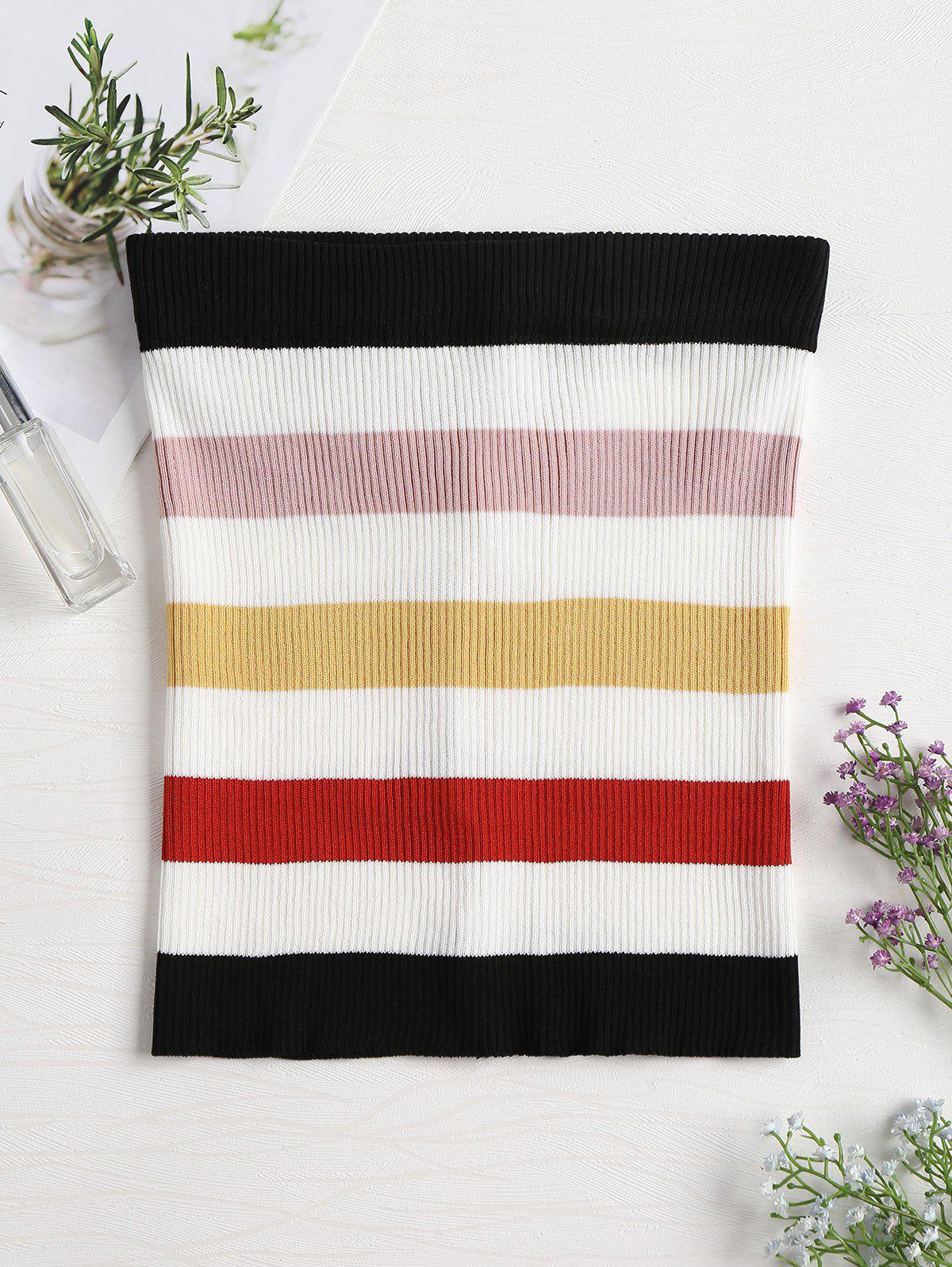 Ribbed Colorful Striped Tube Top 268334802