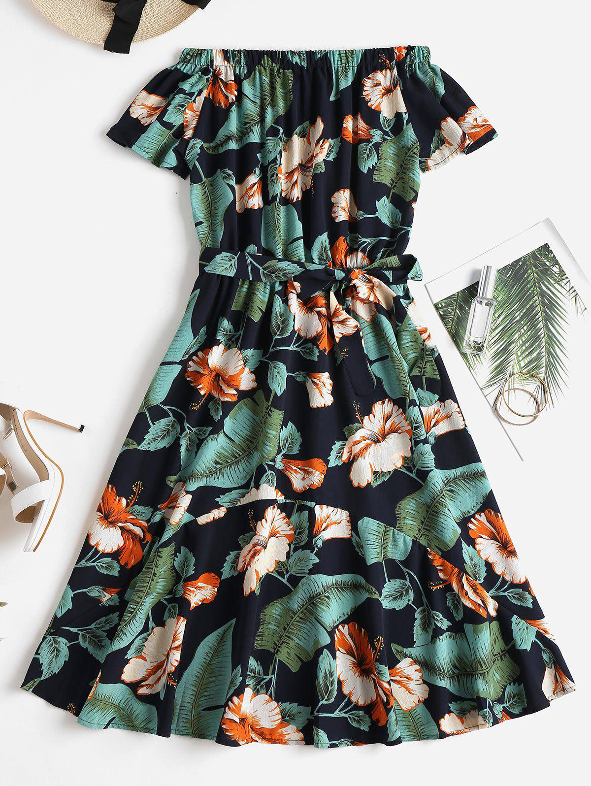 Tropical Print Off The