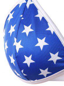 d90128575 ... Parte superior do sutiã da bandeira americana do tamanho positivo