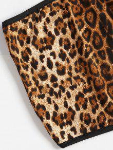 Estampado Xl Leopardo Leopardo Top Tubo Con De qRanEA