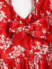 Vestido Camisero Rub Rojo Floral Estampado De S 237; rPwqr8dF