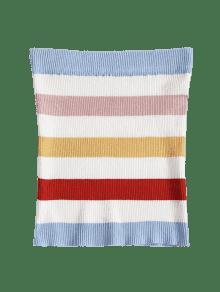 Tubo De Multicolor Superior Parte De Rayas b Acanalado fwTEORn