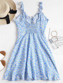 Vestido Aciano Daisy Azul Mini Up Lace S 867nwF