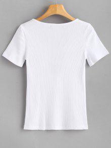 Bowknot Blanco Lazo M Con Camiseta nxSpw