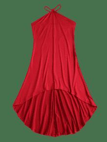 M Sin V Strap Vestido Rojo Alto Tirantes H4wqSY