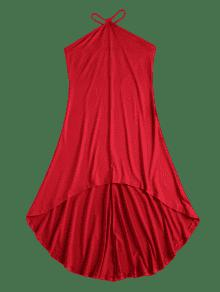 Strap Rojo M Vestido Tirantes Alto Sin V qxSOn
