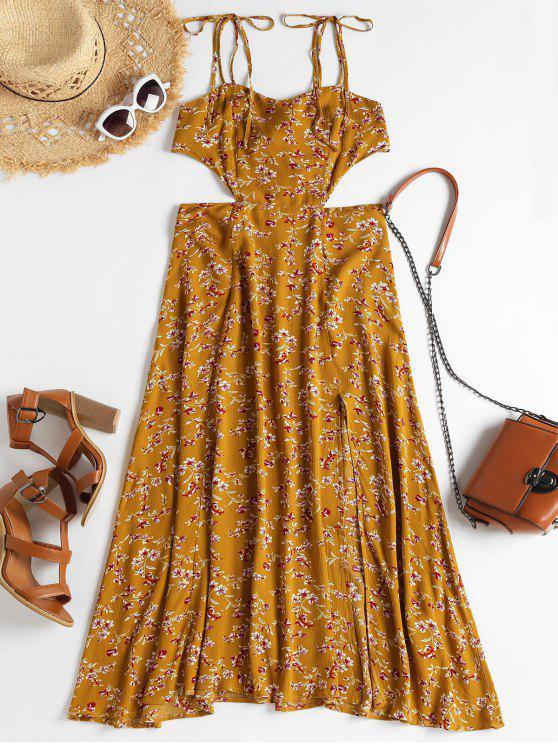 Vestido de corte recto con hombros descubiertos - Caramelo XL