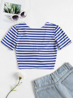 Twist Crop Top - Blue S