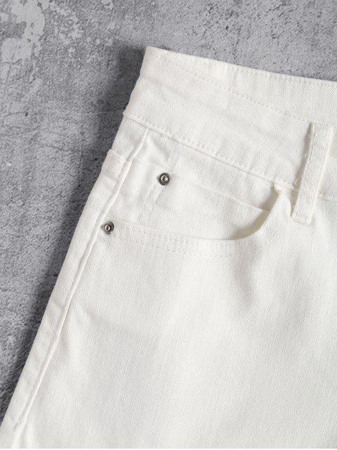 Short Taille Haute en Jean - Blanc L Mobile