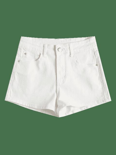 Short Taille Haute en Jean - Blanc S Mobile