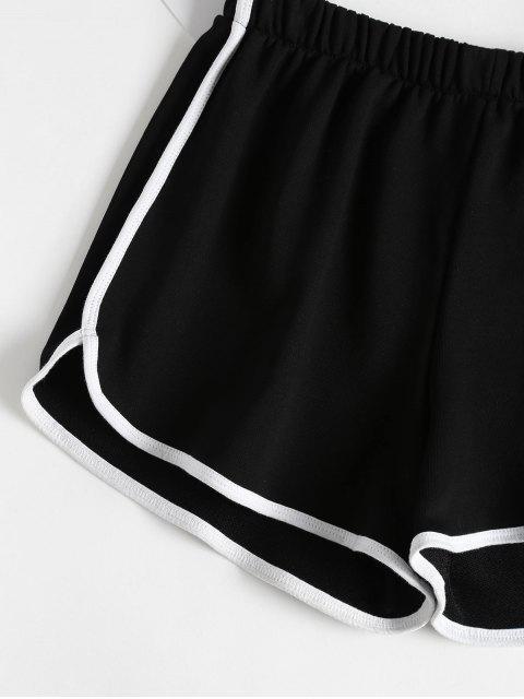 Short Dolphin à Bordures Contrastes - Noir M Mobile
