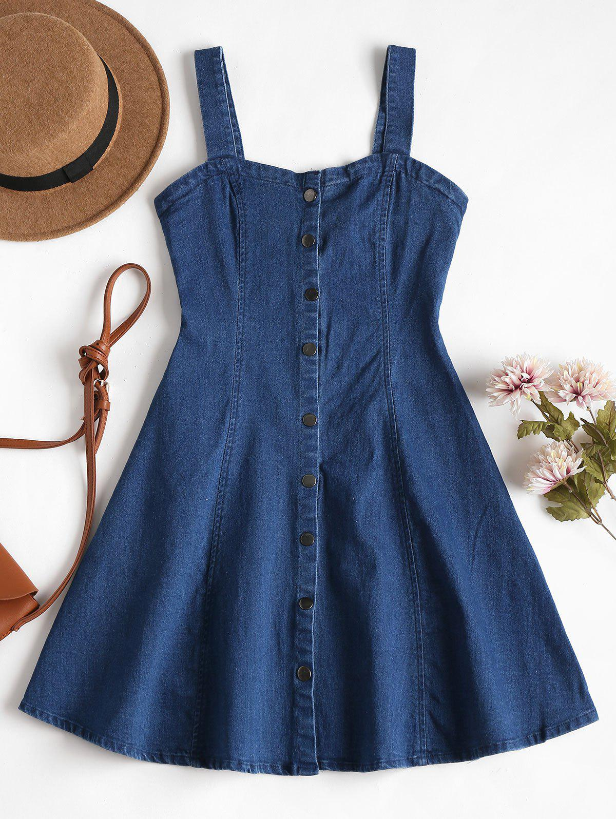 Denim Pinafore Mini Sk