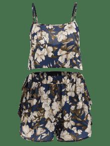 De Pantalones Azul De S Bowknot Profundo Cortos Floral Bowknot Conjunto pvdqxp