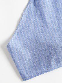 Top S Shorts Azul Claro Twinset Halter Striped Y 5xwqTB