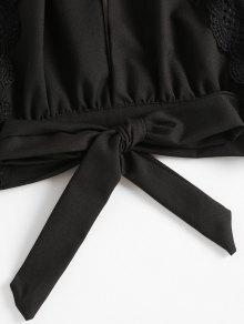 Recortable S De Ganchillo Panel Con Negro Top RwTq1nHxq