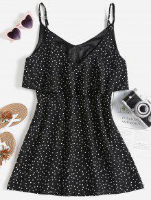 M Vuelo Vestido Negro Con Y Lunares wZXRpqX