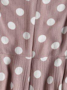 Brown Dot Mini S Up Lace Sundress Polka Rosa BPqCX