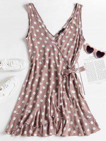 فستان بنمط كشكش (ميني) من بولكا دوت - روزي براون L