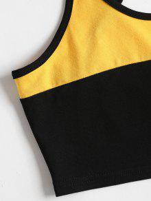 Multicolor Cami Block Top Crop Color M w4nRzzx