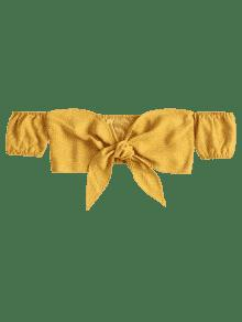 Del Del Lazo Brillante Amarillo Parte Frente S Hombro Fuera Delantera Del UE1wx44qn
