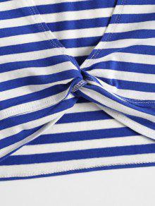 Crop Twist Twist Top Crop S Azul ZwBqdE0