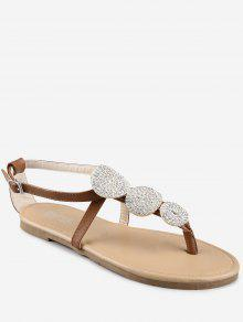 Flat Heel Thong Sandals