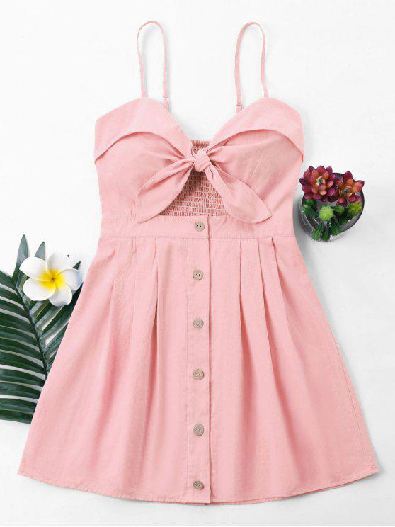 latest Bowknot Cami Dress - LIGHT PINK S