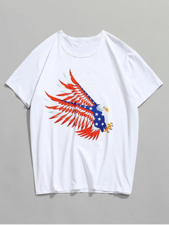 T-shirt Aigle Volant Américain Imprimé - Blanc S