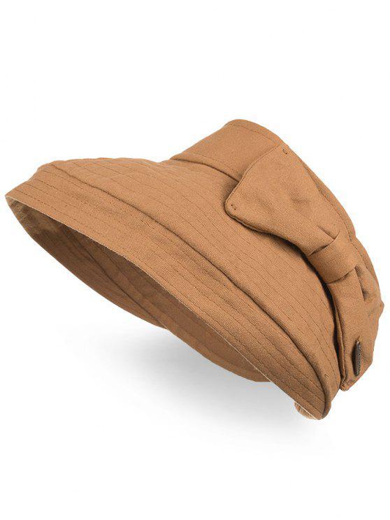 Anti Bowknot UV aberto Top Foldable Summer Hat - Cor de Laranja de Tigre