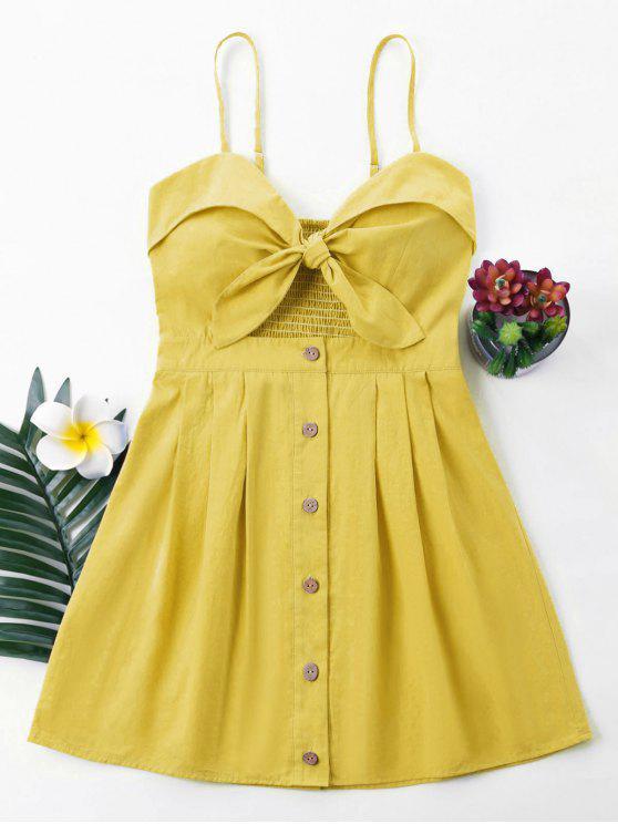 fancy Bowknot Cami Dress - GOLDEN BROWN S