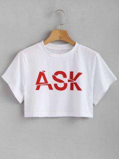 Graphic Boxy Camiseta Corta - Blanco L