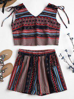 Pantalones Cortos Sin Mangas Con Estampado Tribal - Multicolor L