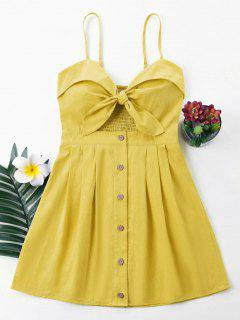 Bowknot Cami Dress - Golden Brown S
