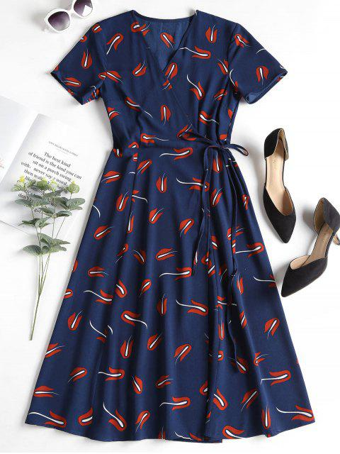 Vestido estampado - Azul Profundo L Mobile