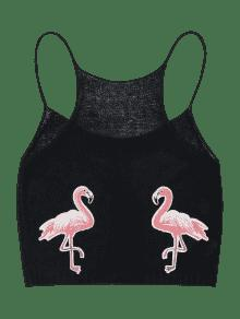 Patched M Cami Negro Flamingo Top 4qfdIcwf