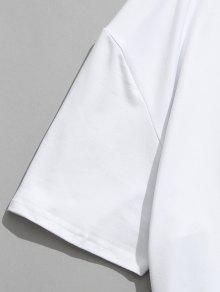 Estadounidense Estampada Camiseta F 3D De L La Bandera Blanco 250;tbol De TS0dqgSw