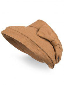 2019 Anti UV Bowknot Open Top Foldable Summer Hat In COFFEE  91d7f6844c82