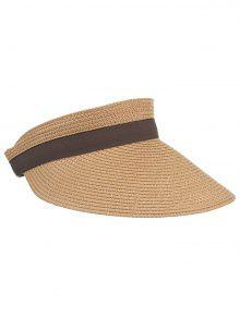 97507a8f6dc 29% OFF  2019 UV Protection Bowknot Open Top Beach Hat In CINNAMON ...