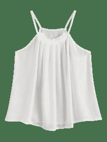 Top Gasa Blanco Gasa Top Plisada Xl r8xrBfRn