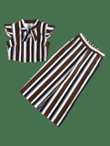 Marr 243;n S Rayas De Pajarita Oscuro A Conjunto Pantalones De YqpZpvw