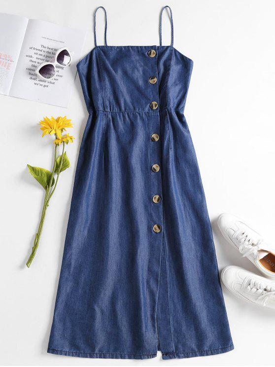 Chambray Button Up Cami Dress