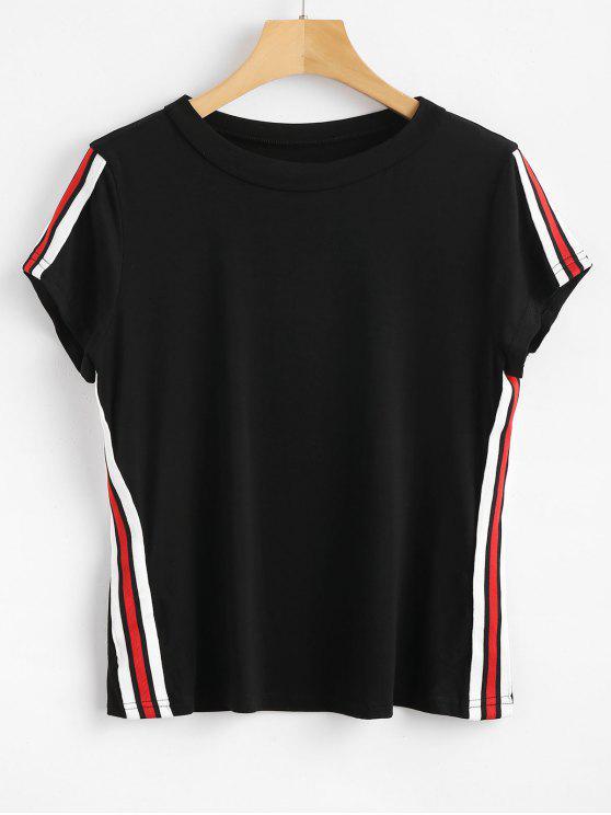 T-Shirt A Righe - Nero XL