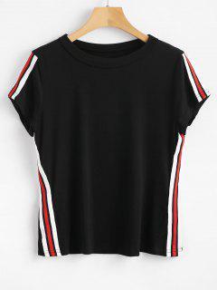 T-shirt à Rayures - Noir M