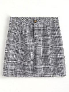 Houndstooth Sheath Skirt - Black M