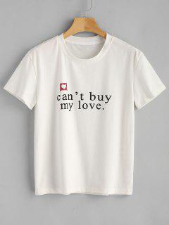 Cant Buy My Love Graphic Tee - White S