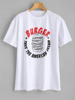 Burger Print Loose Tee - White S