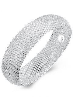 Bracelet En Mailles D'Argent 925 Pour Mariage Style Rétro  - Argent