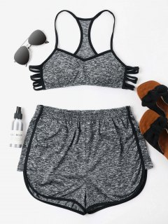 Heather Cami Shorts Set - Dark Gray Xl
