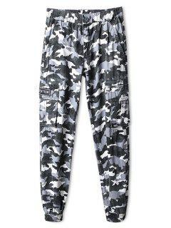 Camo Print Six-pocket Jogger Pants - Acu Camouflage 32