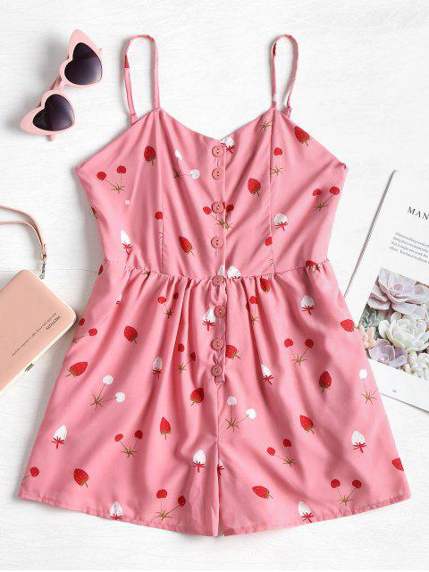 Romper Strawberry Cami barboteuse - Chewing-Gum Rose  L Mobile